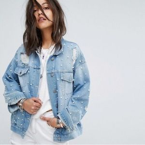 Free People Sunday Funday Trucker Jean Jacket
